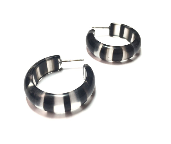 black clear hoops