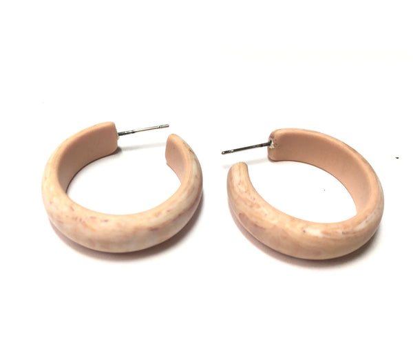 neutral hoop earrings