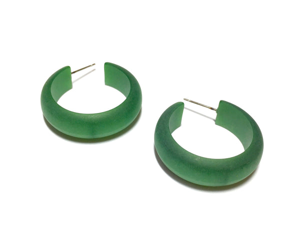hoop earrings green