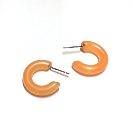 peach moonglow hoop earrings