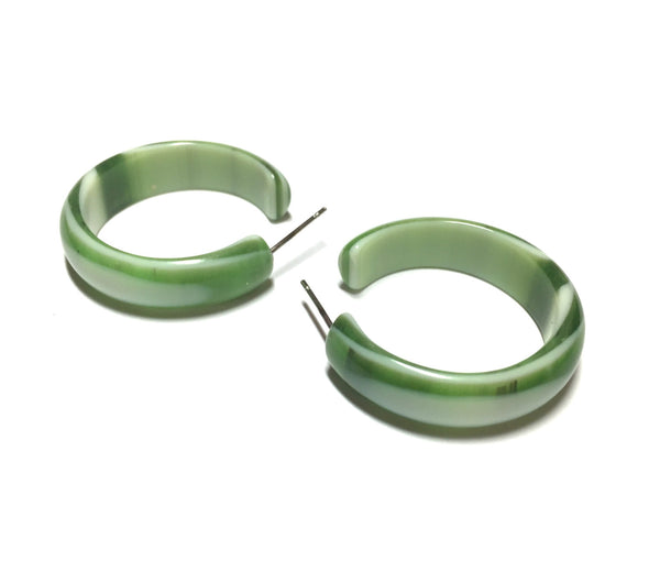 green marbled hoops