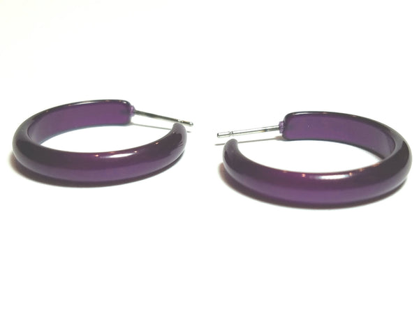 dark purple moonglow hoops
