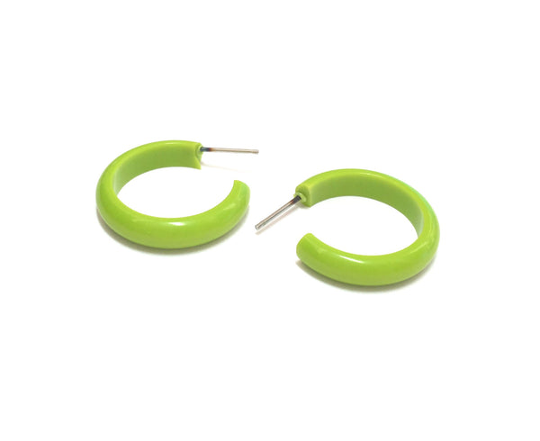 lucite green hoops