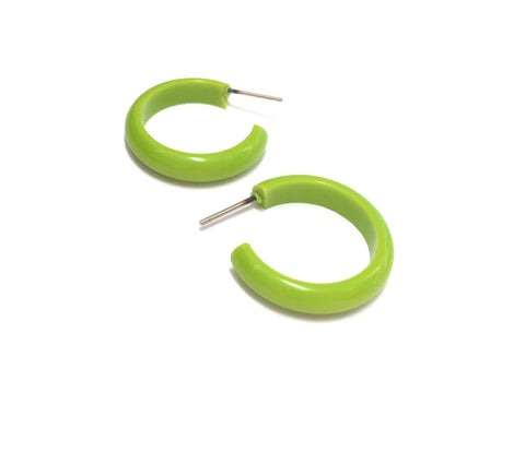skinny neon green earrings