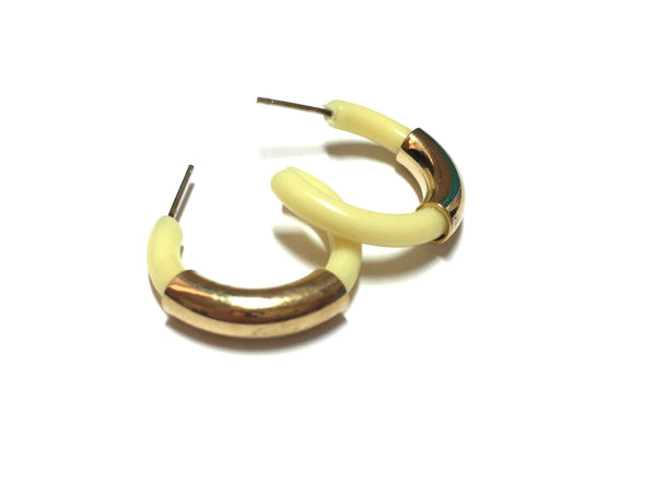 retro yellow gold earrings