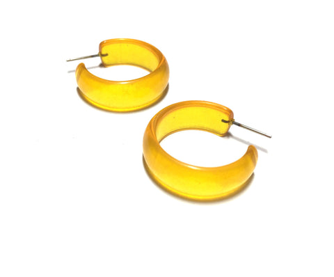 small yellow hoop earrings