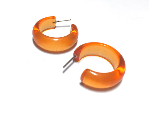 small orange earrings