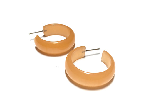 peach moonglow hoops