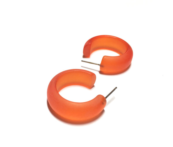 orange lucite earrings
