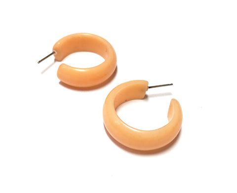 orange lucite hoops