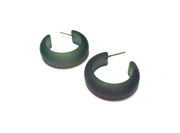 drab green small earrings