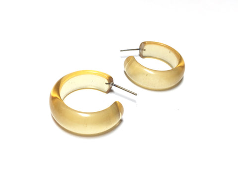 champagne hoop earrings