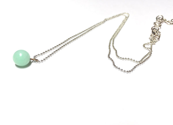 mint green adjustable necklace