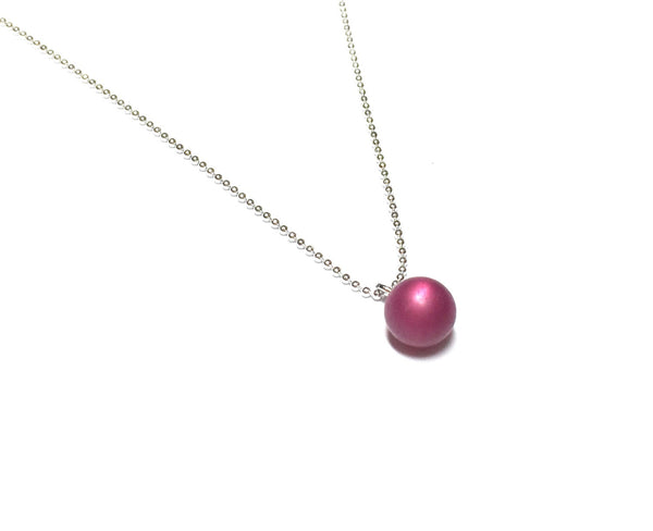 plum necklace