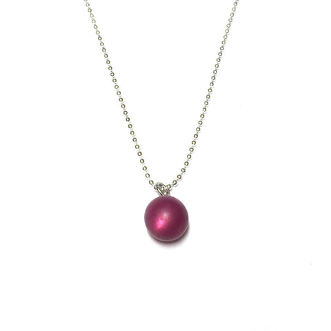 cranberry simple necklace