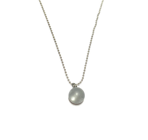 light grey necklace