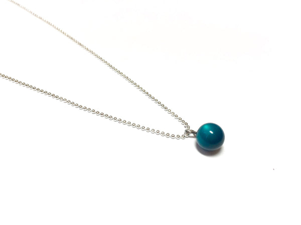 teal moonglow necklace