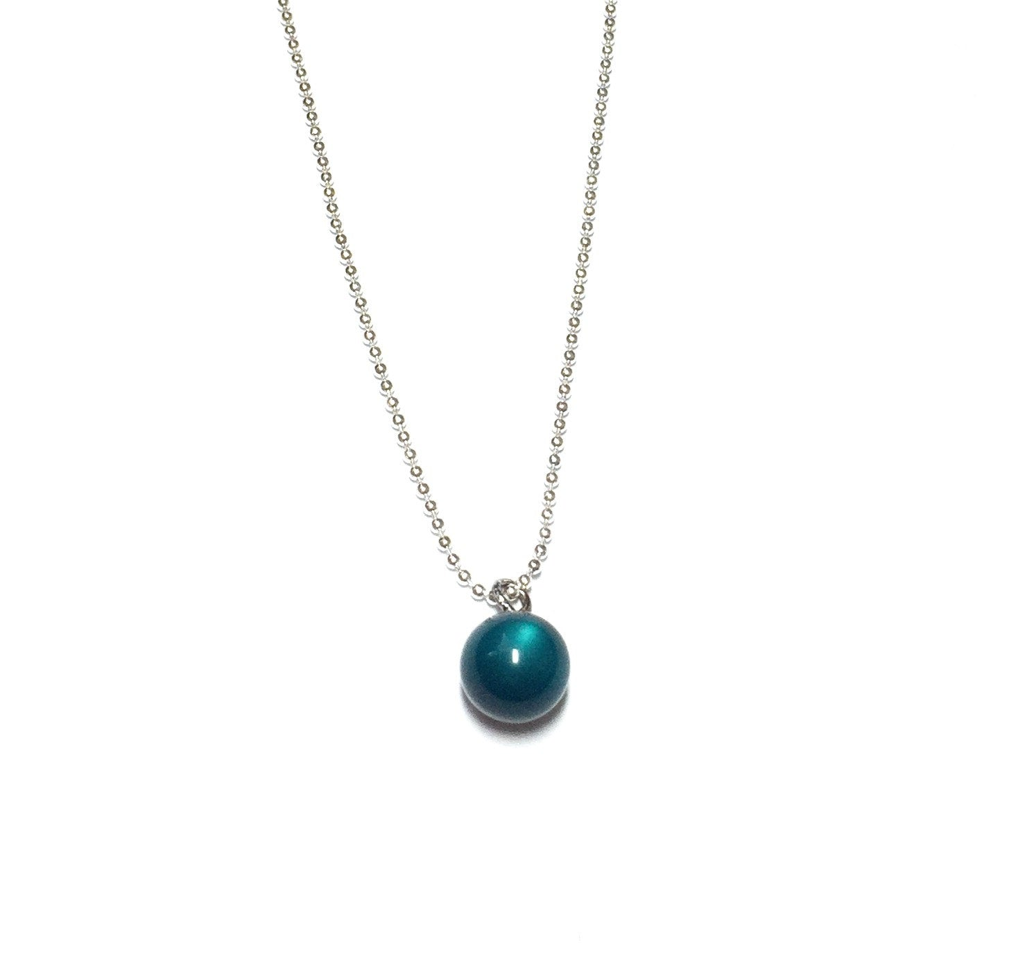 teal moonglow chain necklace
