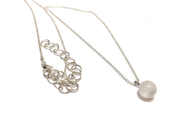 white simple necklace