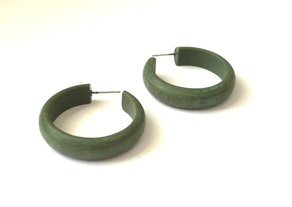 Matte forest green hoop