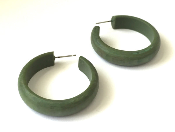 Dark green midi hoop
