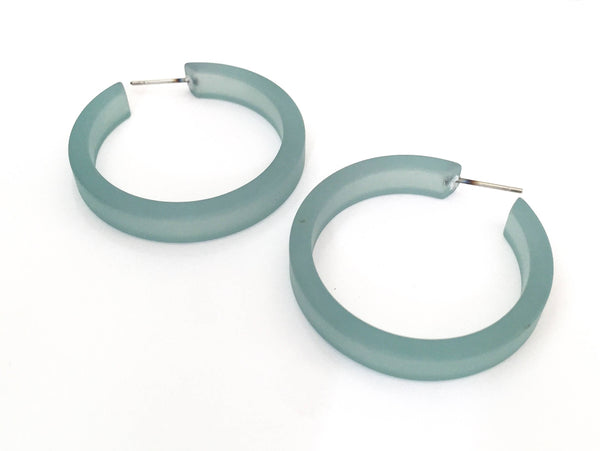 teal blue hoops