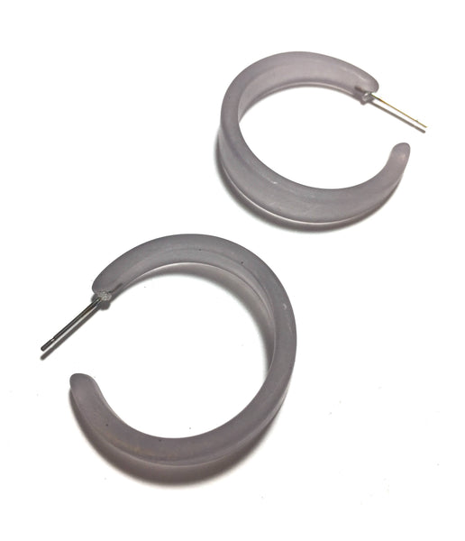 gray hoop earrings