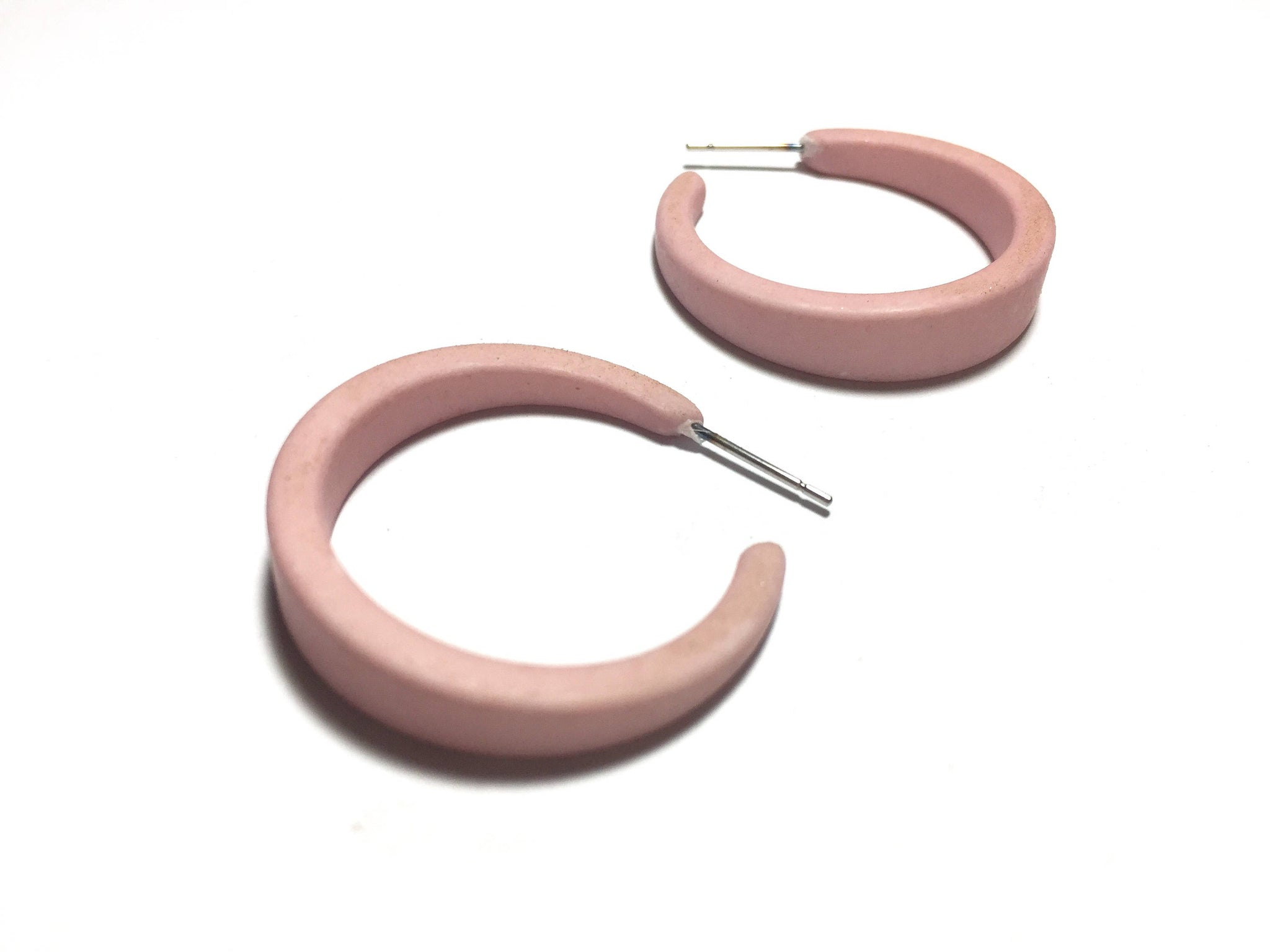 light pink hoops