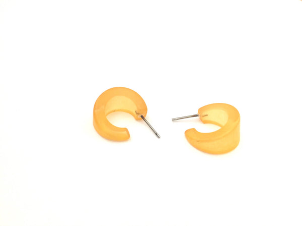 small dark yellow earrings