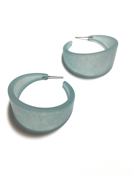 huge hoop earrings teal