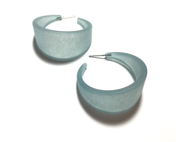 sea green big earrings