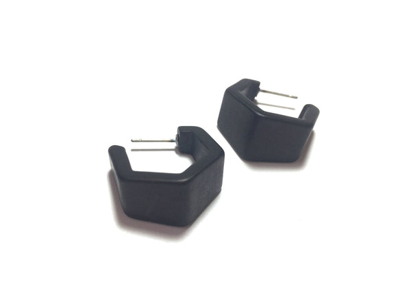 frosted lucite black earrings