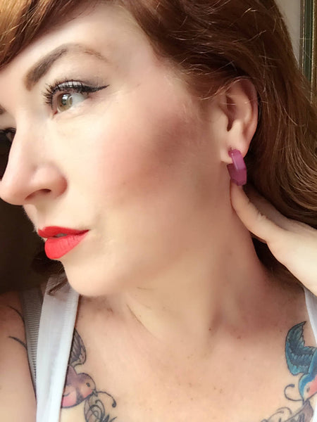 tattoo girl earrings