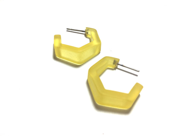 lucite yellow earrings