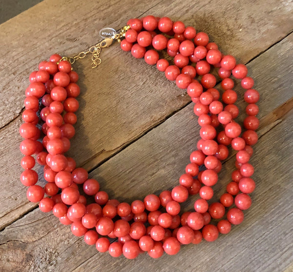 salmon sylvie necklace