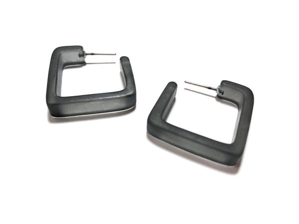 charcoal square hoops
