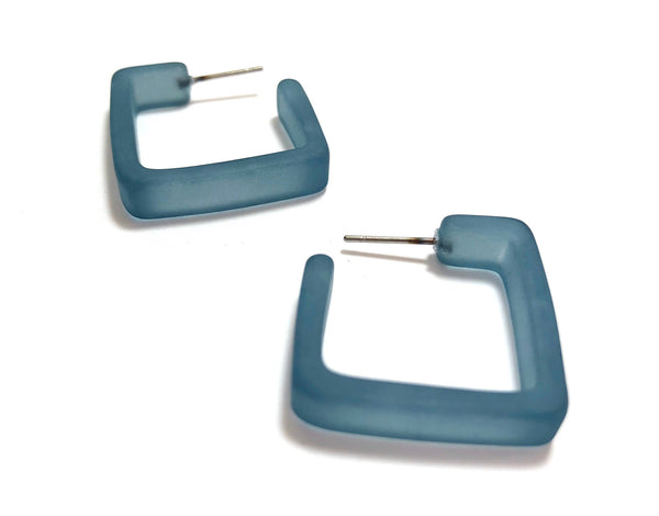 slate blue square hoops