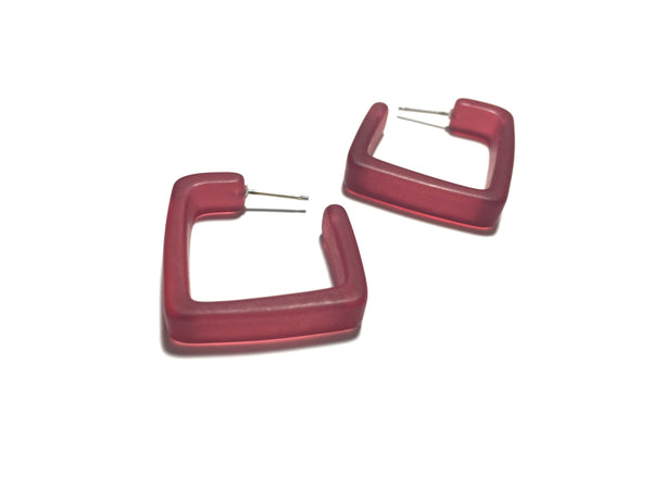 dark purple square hoops