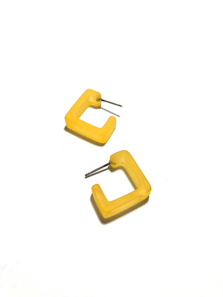 square hoops yellow