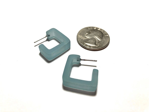 small square hoops teal