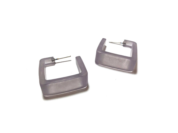lucite steel earrings