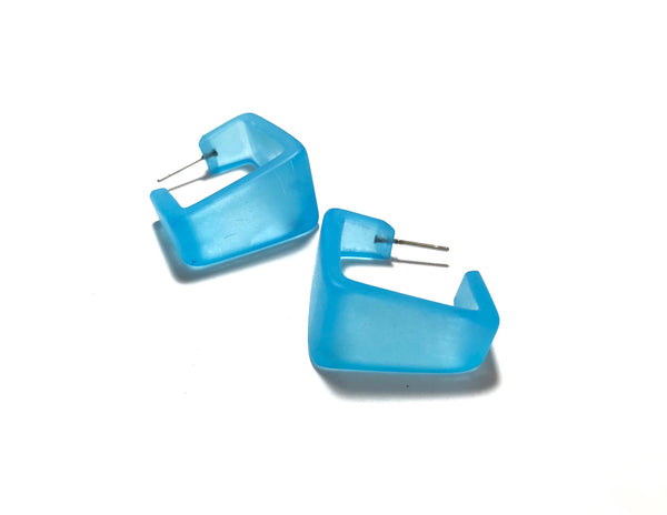 turquoise wide square earrings