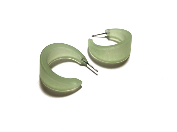 retro green hoop earrings