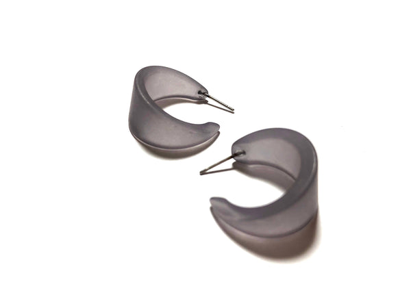 dyed grey earrings