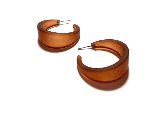 frosted brown earrings