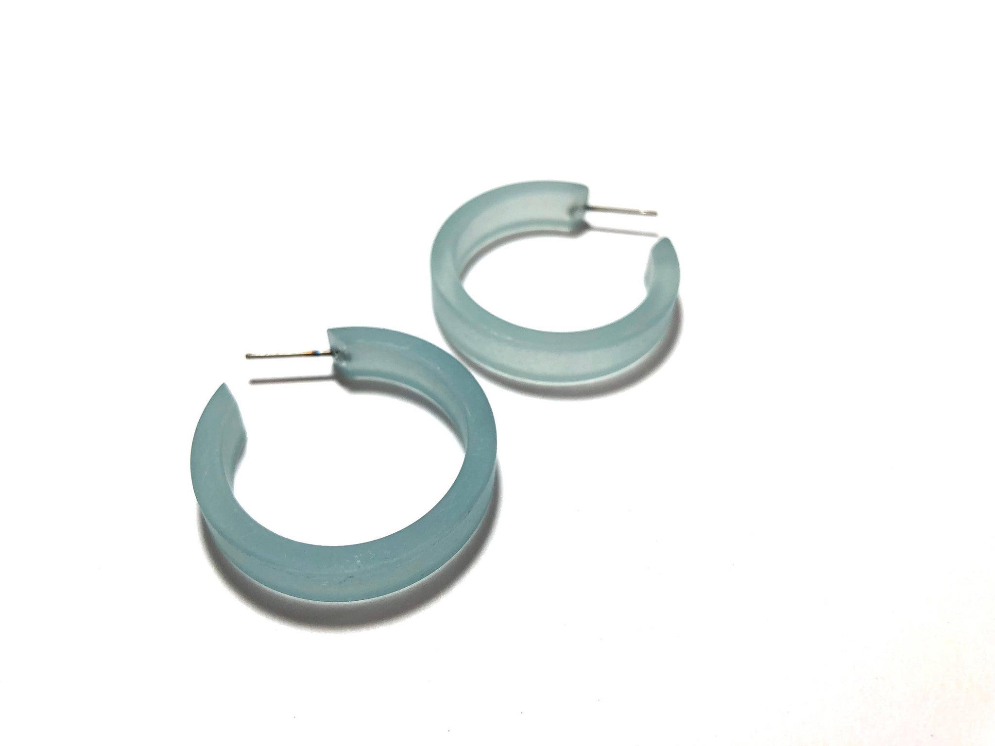 teal small classic hoops
