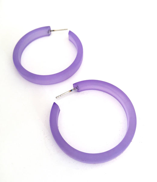 frosted sapphire hoops