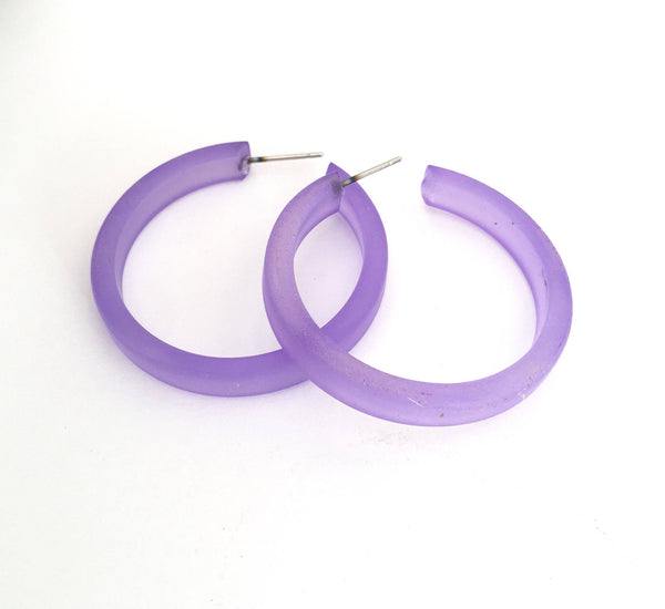 frosted blue classic hoops