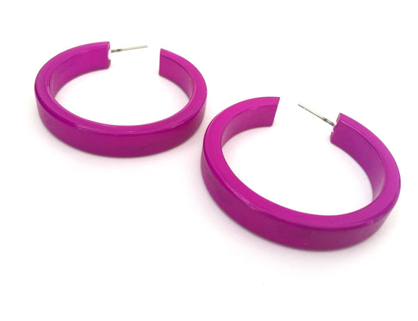large violet earrings