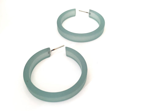 teal classic hoops